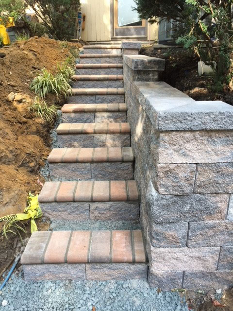 custom stone steps in annapolis, md
