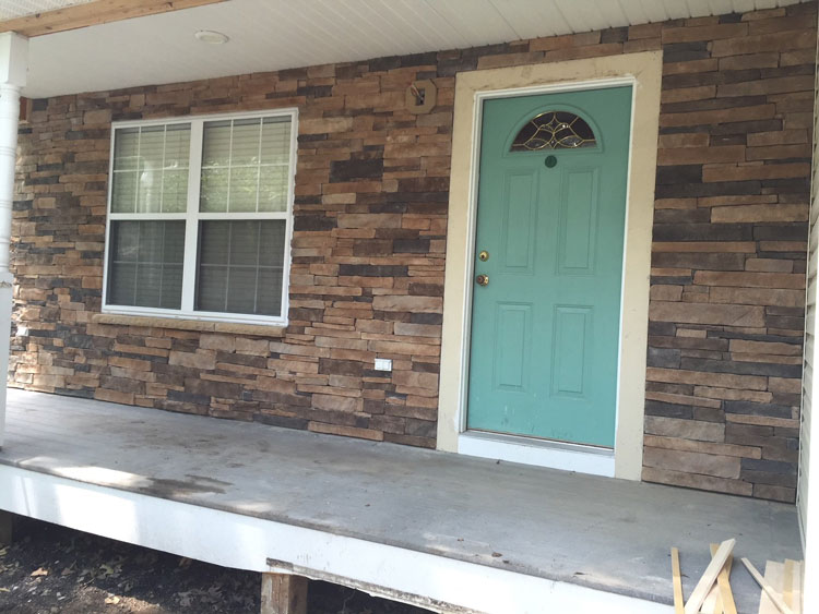 stone veneer on front of house pasadena, md