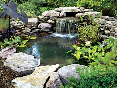 custom outdoor water features and ponds in severna park, md pasadena, md, annapolis, md